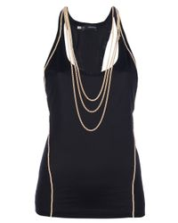 DSquared² - Black Chain Racerback Tank - Lyst