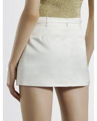 Gucci - Metallic Belted Mini Skirt - Lyst