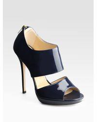 Jimmy Choo | Blue Private Patent Leather Sandals | Lyst