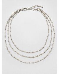 John Hardy   Metallic Sterling Silver Multi-Row Necklace   Lyst
