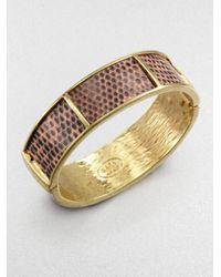 Kara Ross | Lizard Section Cuff Bracelet | Lyst