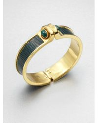 Kara Ross | Green Malachite Lizard Cuff Bracelet | Lyst