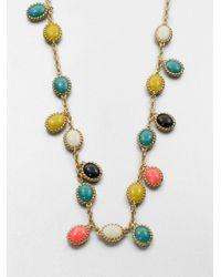 kate spade new york - Multicolor Long Cabochon Necklace - Lyst