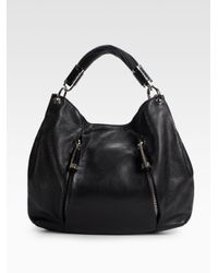 Michael Kors | Black Tonne Leather Hobo | Lyst
