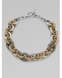 Michael Kors | Metallic Chunky Link Necklace | Lyst