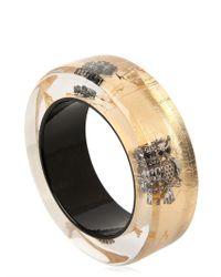 Nicholas King - Metallic Owl Bangle Bracelet - Lyst