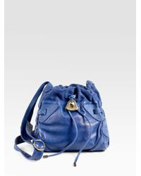 See By Chloé | Blue Esteli Mini Crossbody Drawstring Bag | Lyst