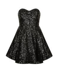 TOPSHOP | Black Alicia Dress | Lyst
