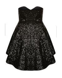 TOPSHOP - Black Alicia Dress - Lyst