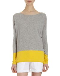 Vince | Gray Banded Colorblock Sweater | Lyst
