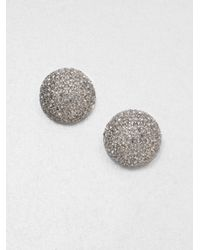 ABS By Allen Schwartz - Metallic Paveacute Button Earrings - Lyst