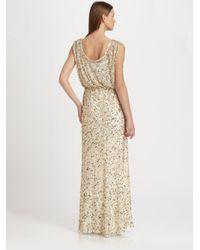 Aidan Mattox | Metallic Sequined Gown | Lyst
