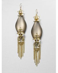 Alexis Bittar - Metallic Fringed Lucite Sparkle Earrings - Lyst