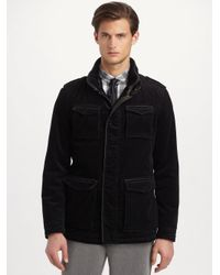 Armani | Black Pinwale Corduroy Jacket for Men | Lyst