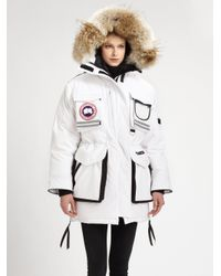 Lyst - Canada Goose Snow Mantra Parka in White 00c0b82ba4bf