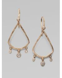 Dominique Cohen | Metallic Diamond 18k Rose Gold Teardrop Fringe Earrings | Lyst