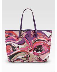 Emilio Pucci | Multicolor Printed Beach Tote | Lyst