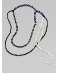 FLorian | Black Multicolor Pearlized Bead Necklace | Lyst