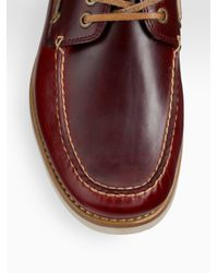 Frye - Brown Sully Boat Shoes for Men - Lyst