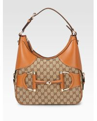 Gucci - Brown Heritage Small Hobo - Lyst