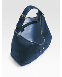 Gucci | Blue Cathrine Ssima Medium Hobo | Lyst
