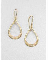 Ippolita - Metallic 18k Gold Diamond Teardrop Earrings - Lyst