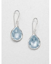 Ippolita | Blue Topaz Sterling Silver Teardrop Earrings | Lyst