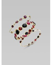 Ippolita | Metallic 18k Gold Ruby Cabochon Bangle | Lyst