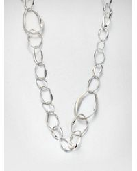 Ippolita - Metallic Sterling Silver Twisted Link Necklace - Lyst