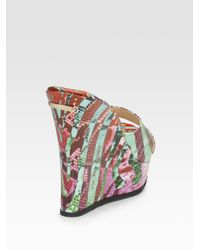 Jimmy Choo - Multicolor Phyllis Printed Leather Sandals - Lyst
