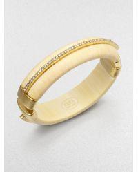 Kara Ross | Metallic Ivoryprint Cuff Bracelet | Lyst