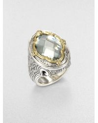 Konstantino | Metallic Prasiolite Sterling Silver and 18k Yellow Gold Ring | Lyst