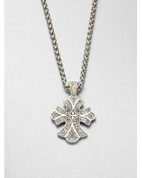 Konstantino - Metallic Sterling Silver Cross Pendant Necklace - Lyst
