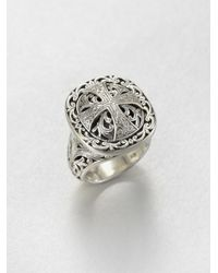 Konstantino | Metallic Sterling Silver Maltese Cross Ring | Lyst