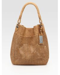 Ralph Lauren Collection - Brown Woven Leather Hobo - Lyst