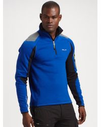 RLX Ralph Lauren | Blue Stretch Fleece Half-zip Pullover for Men | Lyst