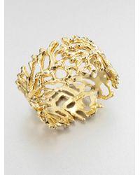 St. John | Metallic Coral Motif Cuff Bracelet | Lyst