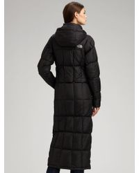 The North Face - Black Triple Long Puff Jacket - Lyst