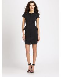 Theory - Black Mariela Tie-waist Poplin Dress - Lyst