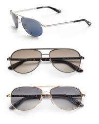 Tom Ford | Blue Mathias Aviator Sunglasses for Men | Lyst
