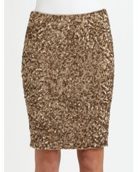 Vince | Metallic Sequin Pencil Skirt | Lyst