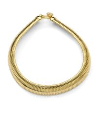 1AR By Unoaerre | Metallic Ribbed Snake Necklace | Lyst