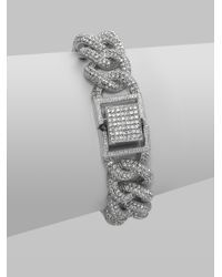 Adriana Orsini | Metallic Pave Crystal Large Chain Bracelet | Lyst