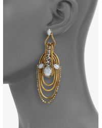 Aerin Erickson Beamon - Blue Agate and Chain Loop Earrings - Lyst