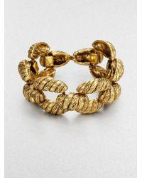 Aerin Erickson Beamon | Metallic Ropetextured Bracelet | Lyst