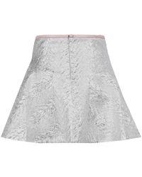 Antipodium - Metallic Silver Radial Flared Skirt - Lyst