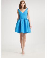 Chloe & Reese | Blue Sleeveless V-neck Silk Dress | Lyst