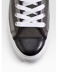 Converse - Black Chuck Taylor Studded Flag High-top Sneakers for Men - Lyst