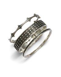 Elizabeth and James - Black Sterling Silver Set Of 3 Bangle Bracelets - Lyst