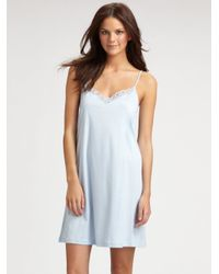Hanro | White Tonight Long Nightgown | Lyst